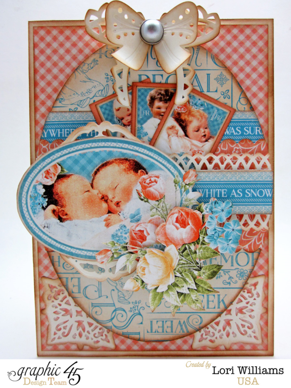Precious Memories card by Lori with amazing layers and colors! #graphic45
