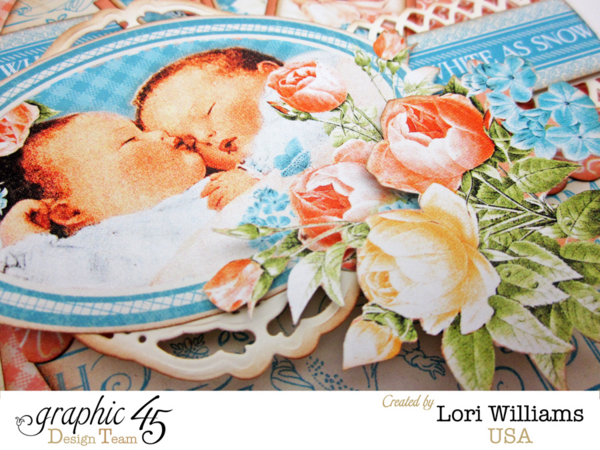 Love these fussy cut flowers and beautiful images on Lori's Precious Memories card #graphic45
