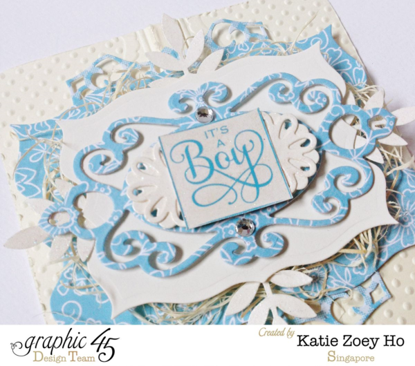 """It's a Boy"" Precious Memories card by Katie! Gorgeous! #graphic45"