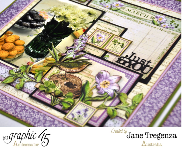 Monthly March Double Layout by Jane - left side #graphic45