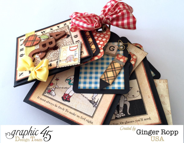 What a gorgeous An ABC Primer mini! See Ginger's video so you can try this yourself #graphic45
