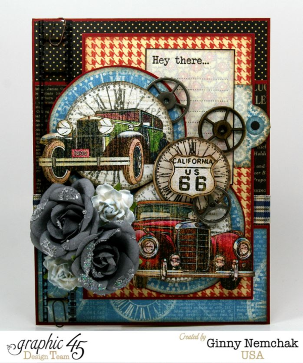Try this Times Nouveau card with a tutorial by Ginny #graphic45