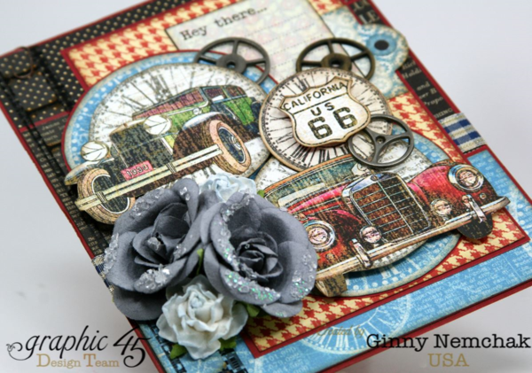 Layers, dimension, and gorgeous details on this Times Nouveau card on this card by Ginny #graphic45