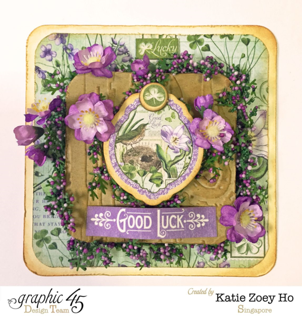 Happy St. Patrick's Day from Katie Zoey Ho! Time to Flourish Card #graphic45