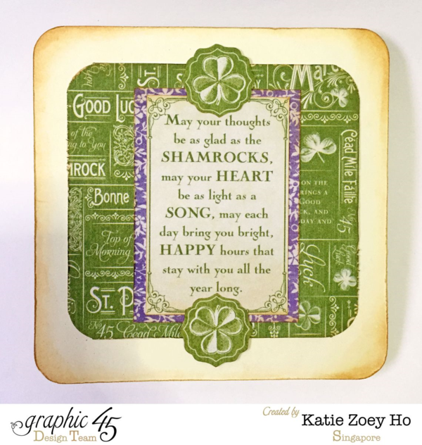 St Patrick's Day wishes from Katie Zoey Ho! #graphic45