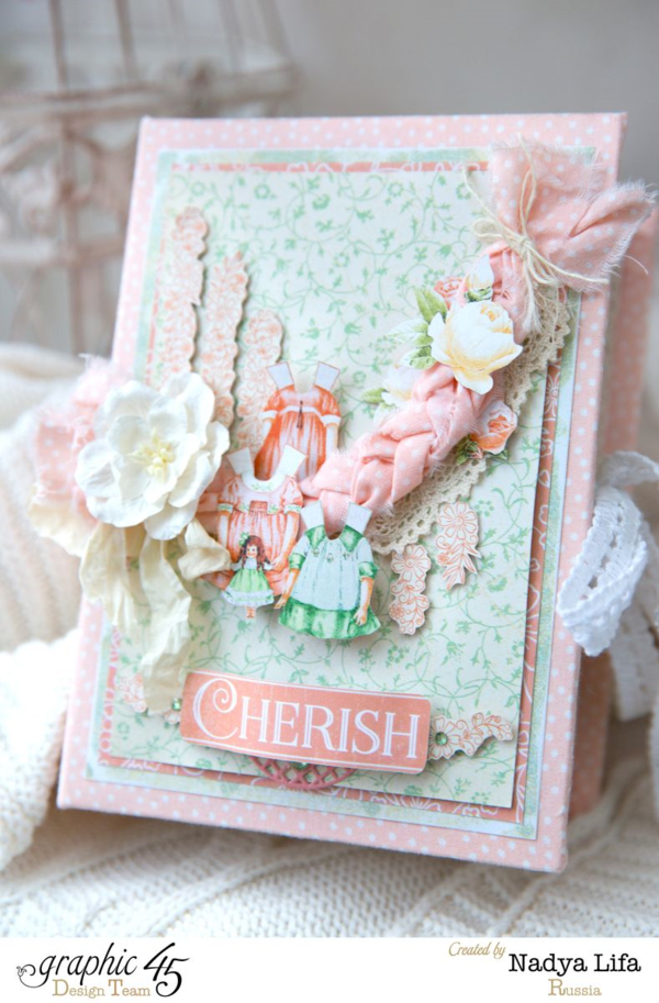 Gorgeous fabric, layers, and fussy cutting on this Baby 2 Bride box by Nadya! Try it yourself with a tutorial #Graphic45