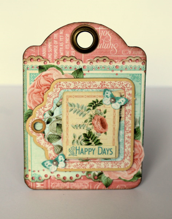 """Happy Days"" Time to Flourish tag by Romy #graphic45"