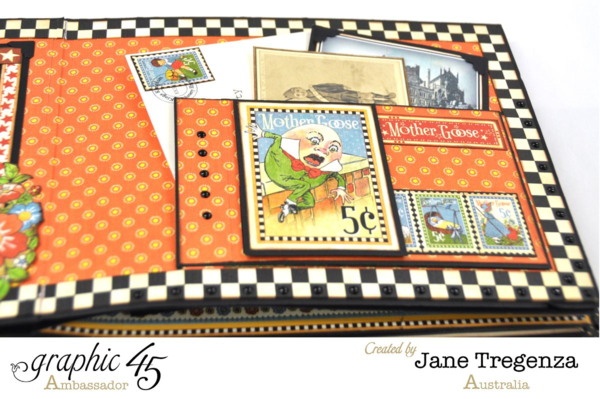 Humpty Dumpty pages of Jane's Mother Goose album #graphic45