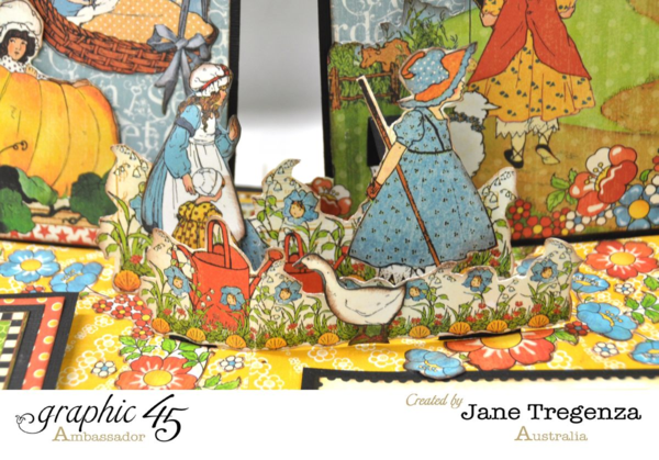 Mary Mary Quite Contrary pages in Jane's Mother Goose album #graphic45