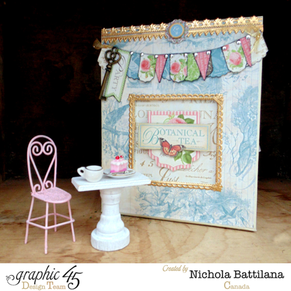Learn how to make this beautiful altered Botanical Tea box with a tutorial from Nichola #graphic45