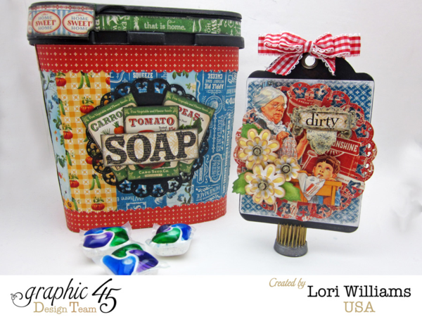 Graphic 45 and Spellbinders Spring Fever Blog Hop! Learn how to make this great soap and Clean/Dirty Tag Set with a great tutorial by Lori #graphic45
