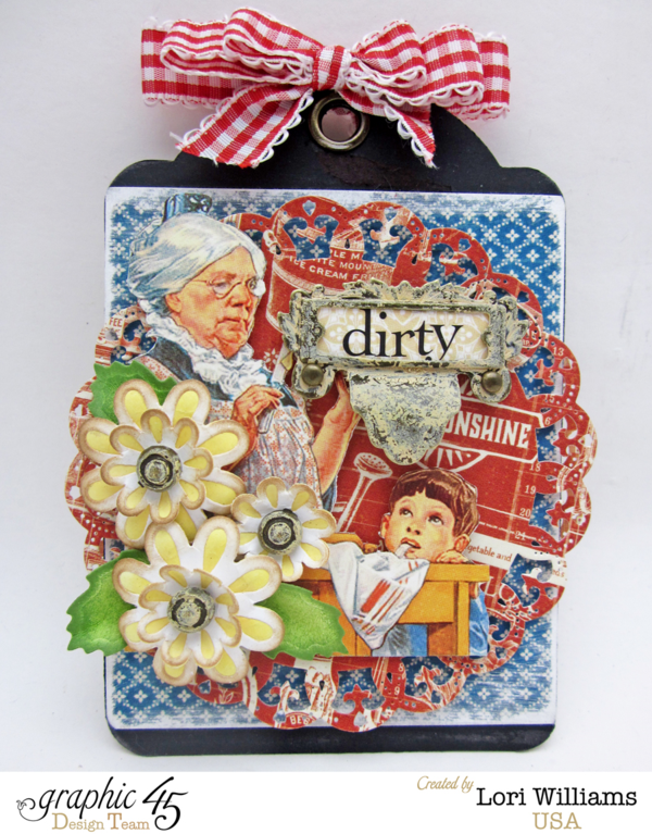 It's a beautiful Home Sweet Home tag set by Lori using Spellbinders and Graphic 45 #graphic45