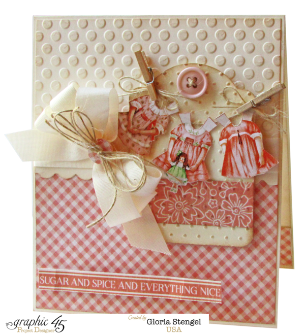 Beautiful baby girl Precious Memories card by Gloria #graphic45