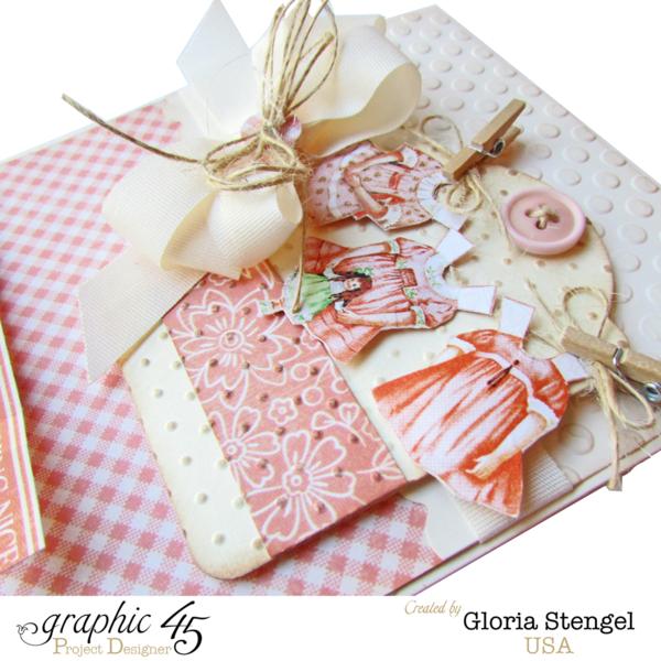 Beautiful baby girl Precious Memories card by Gloria #graphic45