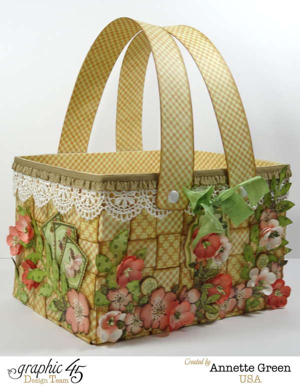 Try this gorgeous Once Upon a Springtime Easter basket with a video tutorial from Annette #graphic45