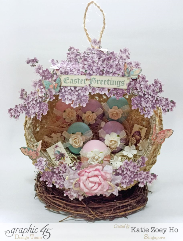 """Easter Greetings"" nest by Katie using Sweet Sentiments. So gorgeous! #graphic45"