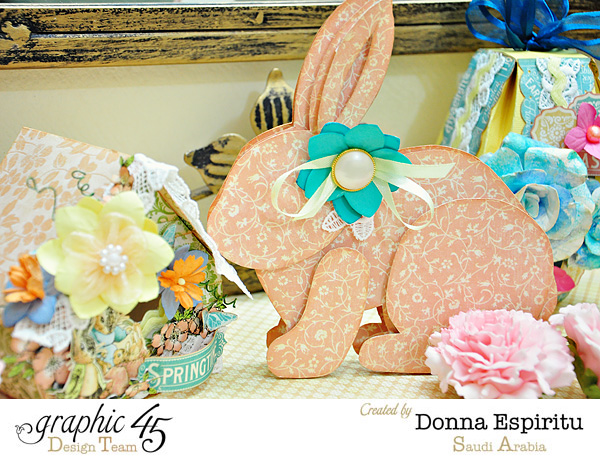 Easter and spring decorations from Donna! Love these #Graphic45
