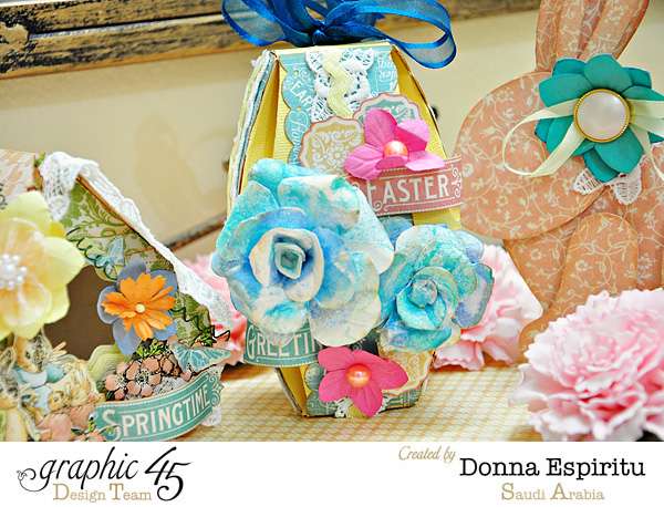 Love these florals! Easter and spring decorations from Donna! #Graphic45