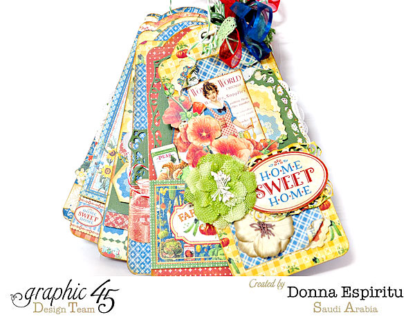 Donna's gorgeous Home Sweet Home tag mini album #graphic45