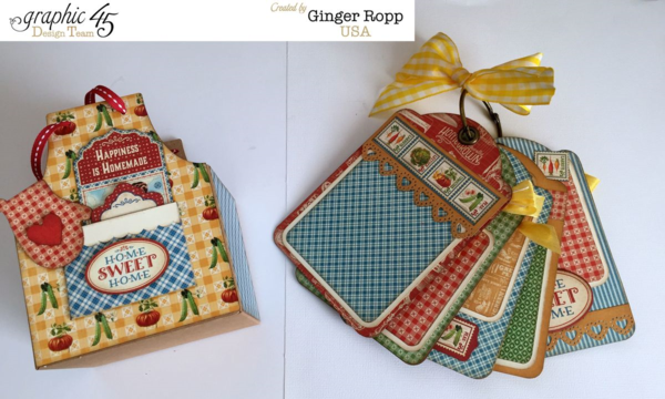 Home Sweet Home Apron Boxed Mini with an awesome set of tags by Ginger #graphic45