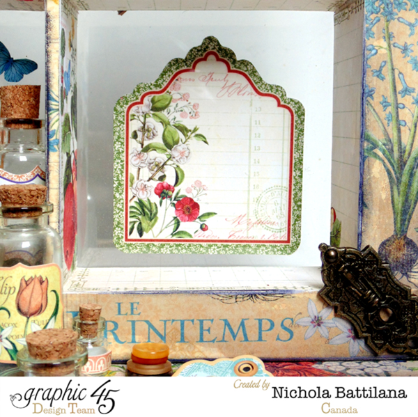 Nichola used our Time to Flourish Tags & Pockets to add beautiful details to his altered window frame #graphic45