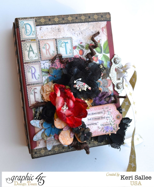 Art Dare Time to Flourish Album from Keri Sallee - challenge your artistic self with this great idea! #graphic45