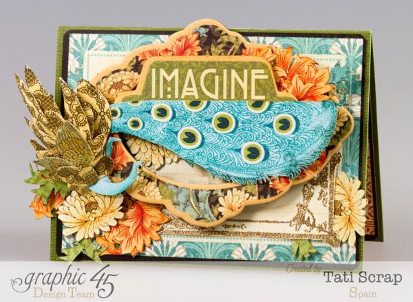 Gorgeous Artisan Style card by Tati Scrap #graphic45