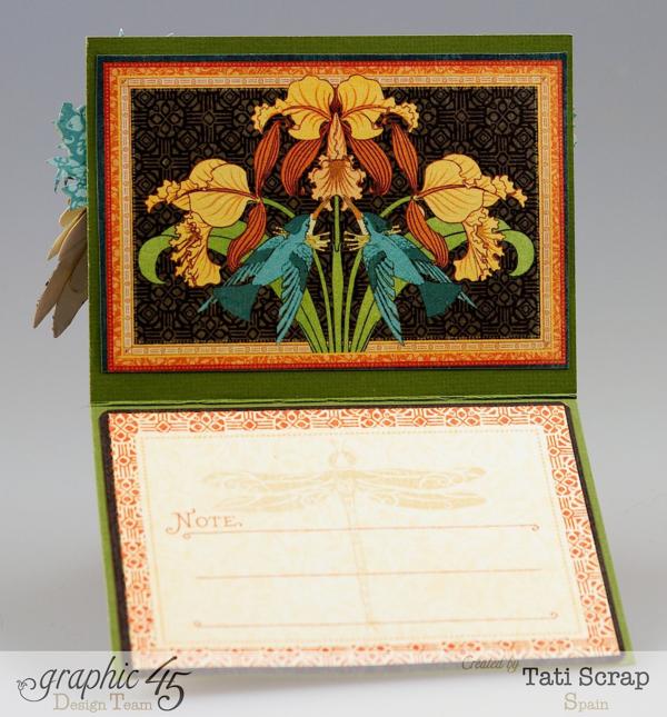 The inside of Tati Scrap's Artisan Style card #graphic45