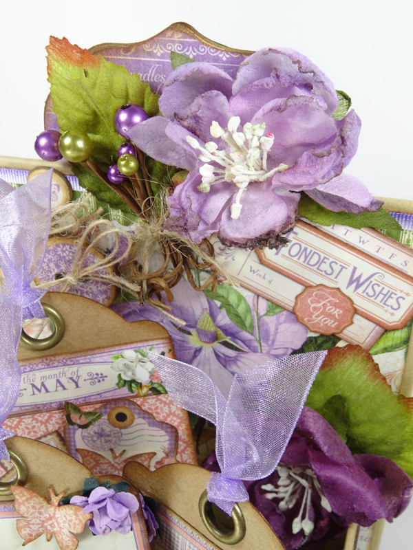"""""""Fondest wishes"""" to our wonderful mothers. This Time to Flourish altered ATC Book Box is by Annette Green and there's a tutorial! #graphic45"""