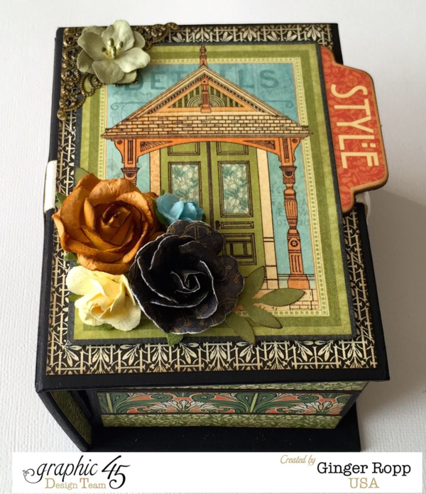 Artisan Style Book Box by the amazing Ginger #Graphic45