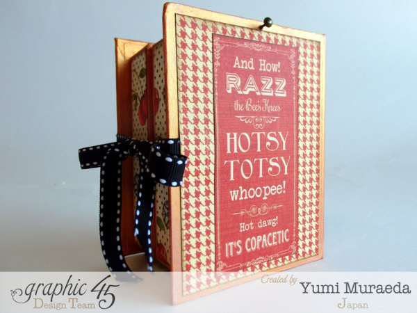 Open Sesame ATC Book Box by the fabulous Yumi #Graphic45