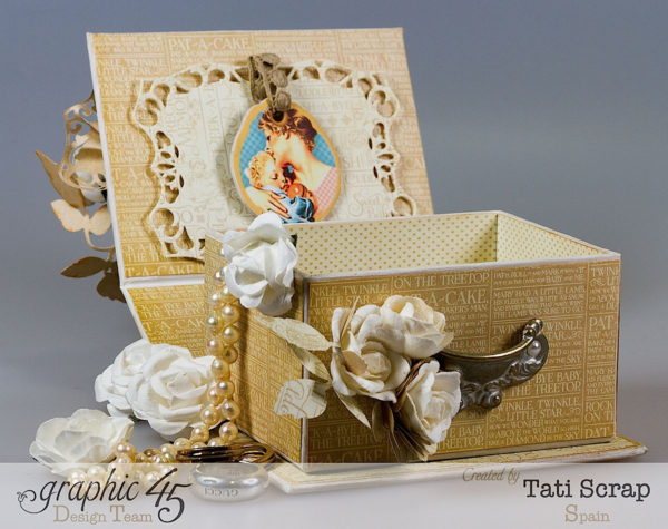 Mother's Day Idea: A handmade jewelry box! This one is made by Tati Scrap using Precious Memories and our ATC Book Box #graphic45