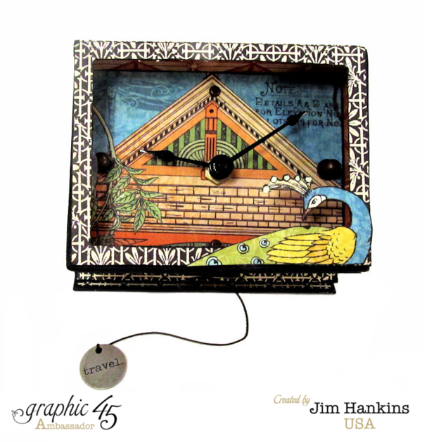 Beautiful Artisan Style clock by Jim, the Gentleman Crafter. Love these vivid colors! #graphic45