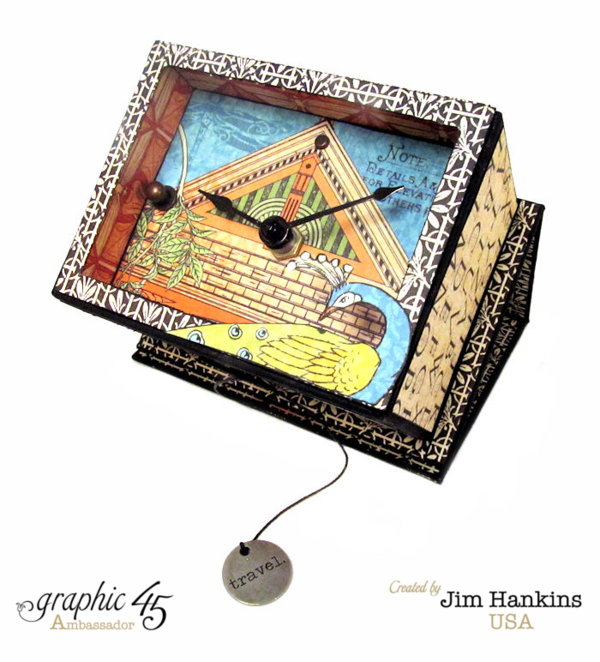 What a stunning clock face in this Artisan Style travel clock by Jim, the Gentleman Crafter #graphic45