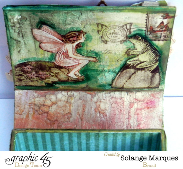 What a sweet scene on the inside of Solange's Once Upon a Springtime ATC Book Box! #graphic45