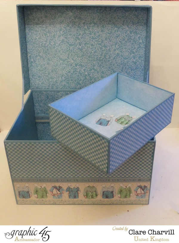 What a great removable tray in this Precious Memories Baby Box by Clare Charvill #graphic45