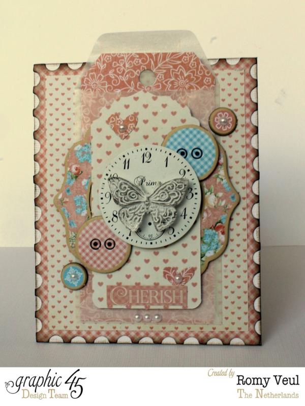 """Stunning Precious Memories """"Cherish"""" card by Romy #graphic45"""