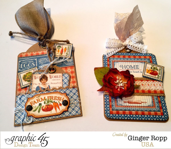 Home Sweet Home Tags by Ginger Ropp. Beautiful! #graphic45