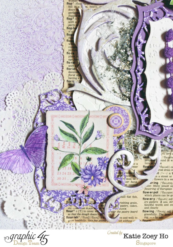 """Flourish"" layout from Katie using Time to Flourish #graphic45"