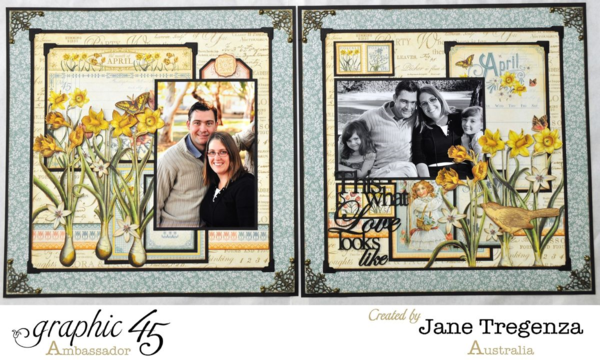 Jane's incredibly inspiring double layout using Time to Flourish #graphic45