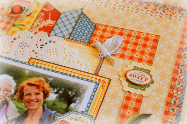 Learn how to make this Home Sweet Home layout with a step-by-step tutorial from Romy #graphic45