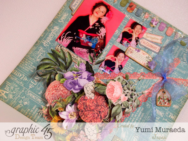 Lovely Time to Flourish layout by Yumi Muraeda using Time to Flourish! #graphic45