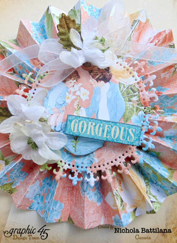 """Gorgeous"" Mother's Day Precious Memories rosette from Nichola #graphic45"