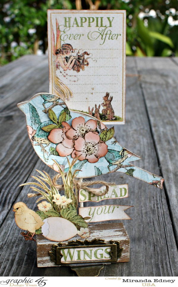 """""""Happily Ever After"""" Once Upon a Springtime plaque by Miranda! Spread your wings! #graphic45"""