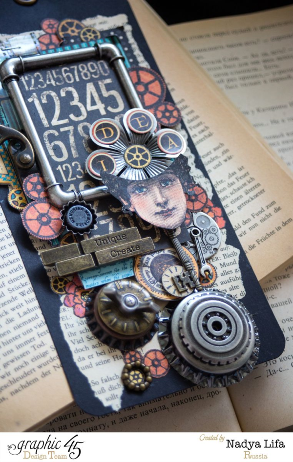 What a brilliant Steampunk Spells tag by Nadya Lifa #graphic45