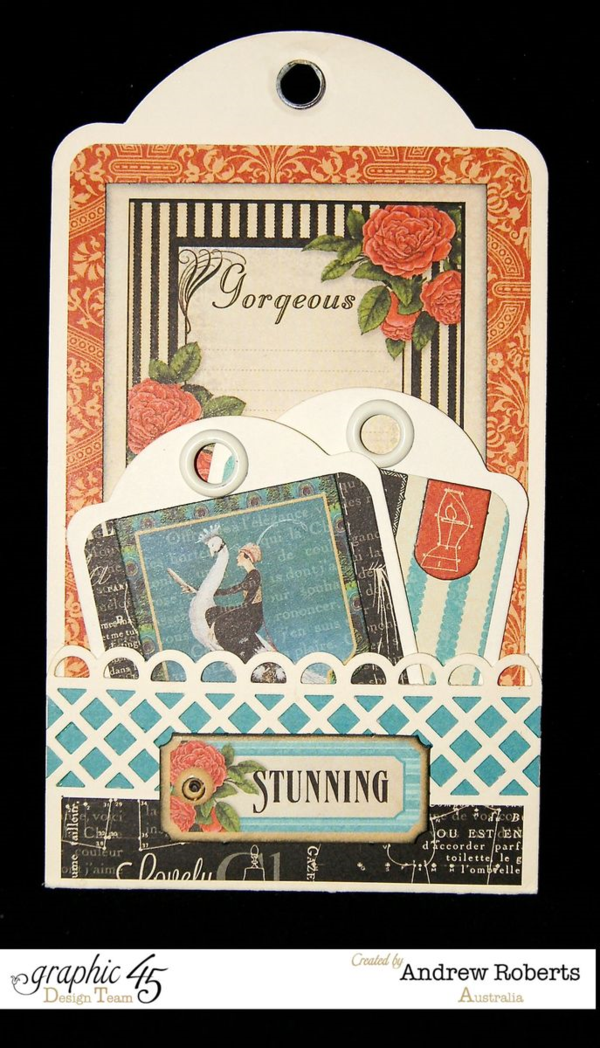 A gorgeous Couture tag by Andrew Roberts! #graphic45