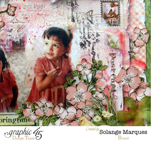 What a perfect Once Upon a Springtime layout by Solange! How incredibly whimsical and gorgeous!! #graphic45