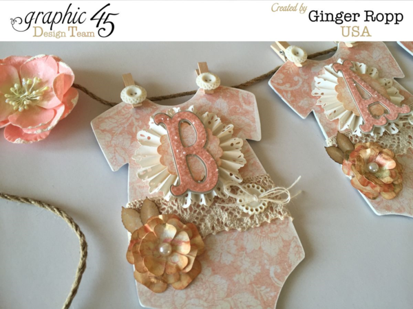 A gorgeous Baby 2 Bride banner by Ginger Ropp! Love this! #graphic45