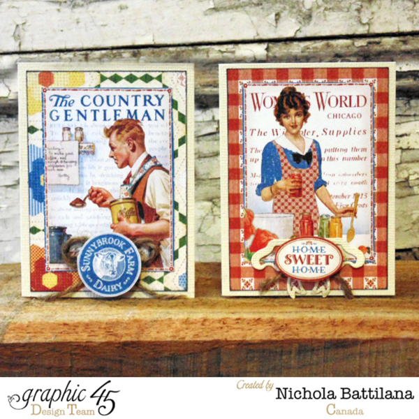 Nichola amazes with Home Sweet Home cards - we love these 2 brilliant cards! #graphic45 #cards
