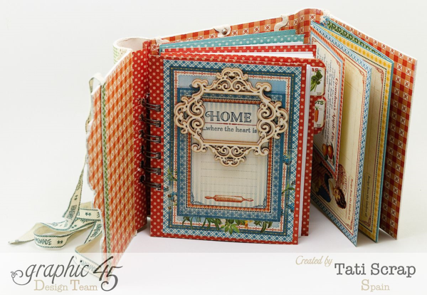 """""""Home is Where the Heart Is"""" page of the Home Sweet Home recipe book by Tati Scrap #graphic45"""